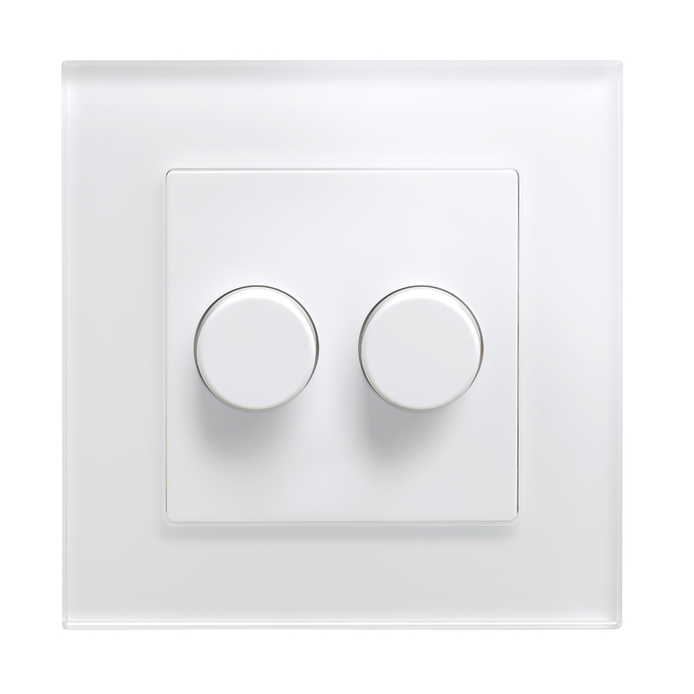 Dimmer Switch Crystal Pg 2g Rotary Led Dimmer Switch 2 Way White